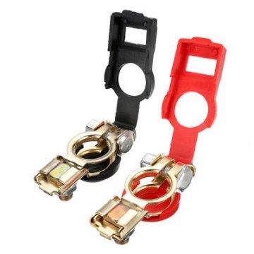1 Paar Batterie Polklemme Klemme Positive Negative Autobatterie Terminal Clip