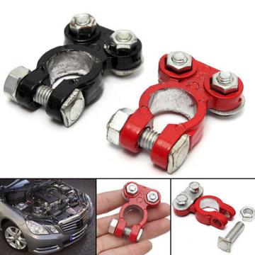 2 Stück NEU Aluminum Positiv & Negativ Auto Batterieklemme Clips Verbindung