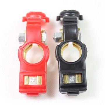 2Pcs Batterie-Anschluss für Auto-Klipp-negativen positiven Anschluss