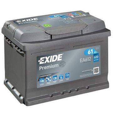 Autobatterie 61AH 12V 600A/EN Exide EA612 statt 54Ah 55Ah 56Ah 60Ah 62Ah 64Ah