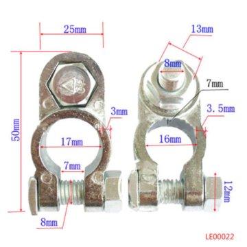 Ein Paar von Zink-Legierung Autobatterie Kabelklemme universellen Klammer Clip
