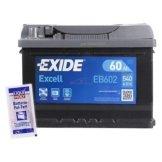 EXIDE EB602 60AH 5400A AUTOBATTERIE STARTERBATTERIE PKW-BATTERIE + POL FETT