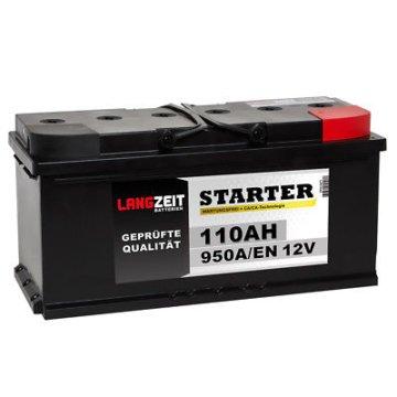 LANGZEIT Starterbatterie Autobatterie 12V 110AH statt 90Ah 95Ah 100Ah 115Ah Auto