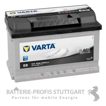 Varta Autobatterie 12V 70Ah 640A E9 ersetzt 66Ah 68Ah 70Ah 72Ah
