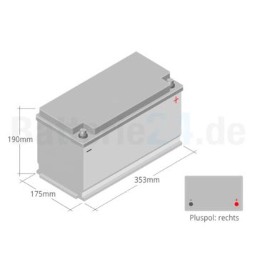 Varta Blue Dynamic Autobatterie G3 12V 95Ah Starterbatterie 85 88 90 100 110Ah